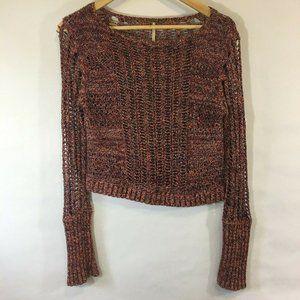 Free People Long Sleeve Crop Open Knit Sweater